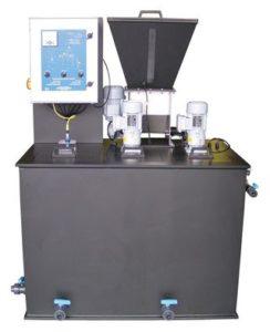 Stacja przygotowania polielektrolitu z proszku lub emulsji.